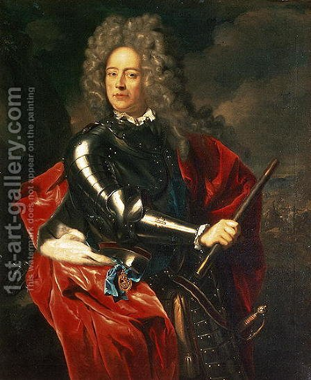 Portrait of John Churchill, 1st Duke of Marlborough (1650-1722) by Adriaen Van Der Werff - Reproduction Oil Painting