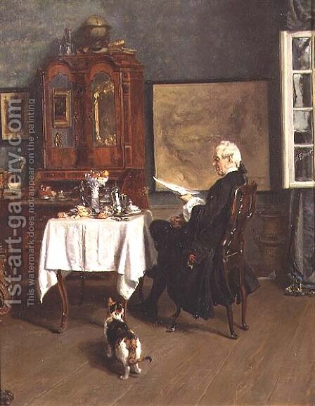 The Actuary at Breakfast by Alexander Friedrich Werner - Reproduction Oil Painting