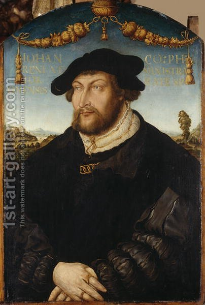 Portrait of Count Palatine Johann III. Administrator of Regensburger Diocese, c.1526 by Hans Wertinger - Reproduction Oil Painting