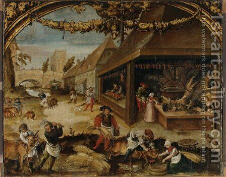 The Month of December, c.1525-26 by Hans Wertinger - Reproduction Oil Painting