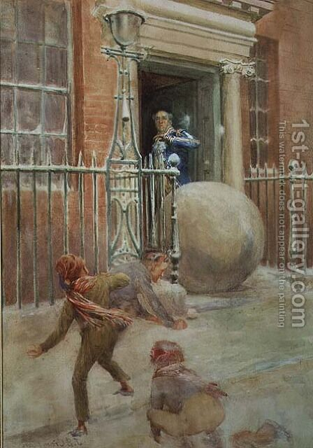 Snowballing - Adding Insult to Injury by James Shaw Crompton - Reproduction Oil Painting