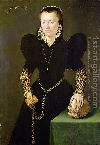 Katheryn of Berain (1535-91) 1568 by Adriaen van Cronenburgh - Reproduction Oil Painting