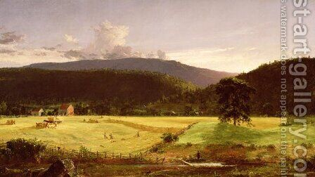 Bareford Mountains, West Milford, New Jersey, 1850 by Jasper Francis Cropsey - Reproduction Oil Painting