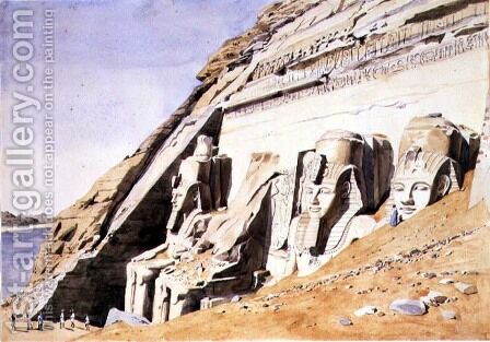 No.1081 Front of the Great Temple at Abu Simbel, c.1845 by Canon G. F. Weston - Reproduction Oil Painting
