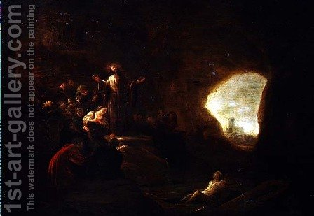 The Resurrection of Lazarus by Jacob Willemsz de Wet the Elder - Reproduction Oil Painting