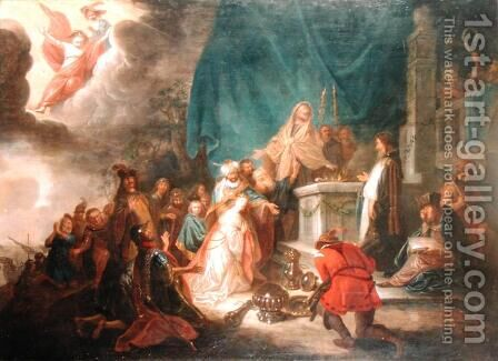 The Sacrifice of Iphigenia by Jacob Willemsz de Wet the Elder - Reproduction Oil Painting