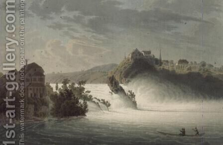 The Falls of Rhin, engraved by J. Hurlimann by (after) Wetzel, Johann Jakob - Reproduction Oil Painting