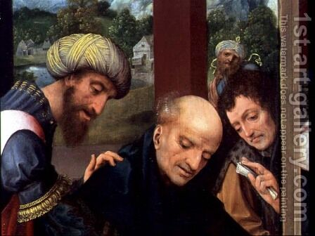St. Catherine and the Philosophers (detail of the Philosophers) by Goossen van der Weyden - Reproduction Oil Painting