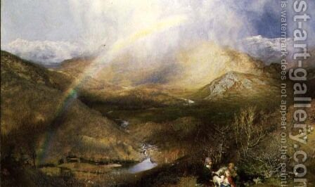 The Rainbow, 1862 by Henry Clarence Whaite - Reproduction Oil Painting