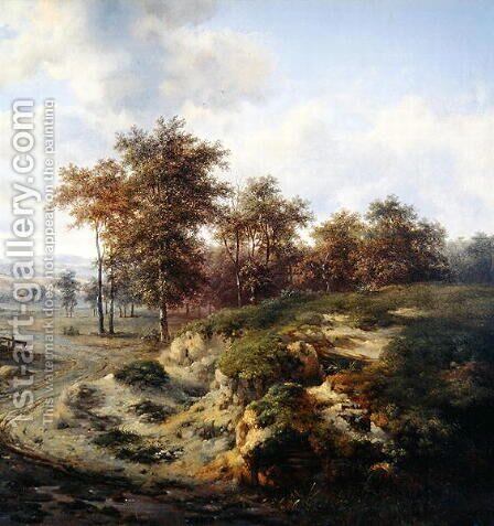 The Path to Sandhugel, 1667 by Jan Wijnants - Reproduction Oil Painting