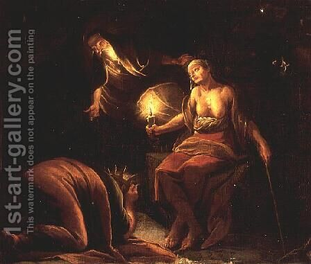 An Allegory of Witchcraft by Domenicus van (Ascanius) Wijnen - Reproduction Oil Painting
