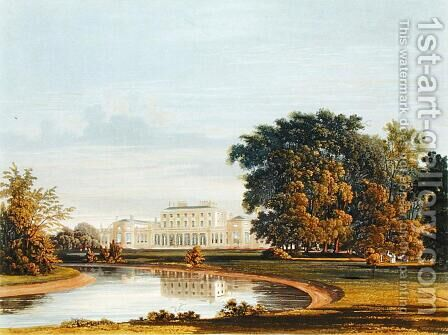 Frogmore, from The History of the Royal Residences, engraved by William James Bennett (1787-1844), by William Henry Pyne (1769-1843), 1819 by Charles Wild - Reproduction Oil Painting