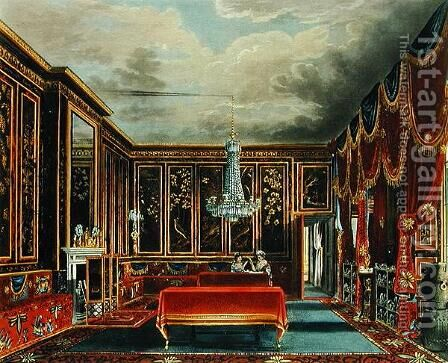 The Japan Room at Frogmore, engraved by R. Reeve, from The History of the Royal Residences of Windsor Castle, St. James Palace, Carlton House, Kensington Palace, Hampton Court and Frogmore, published by A. Dry, 1819 by Charles Wild - Reproduction Oil Painting