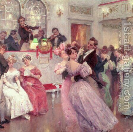 Strauss and Lanner - The Ball, 1906 by Charles Wilda - Reproduction Oil Painting