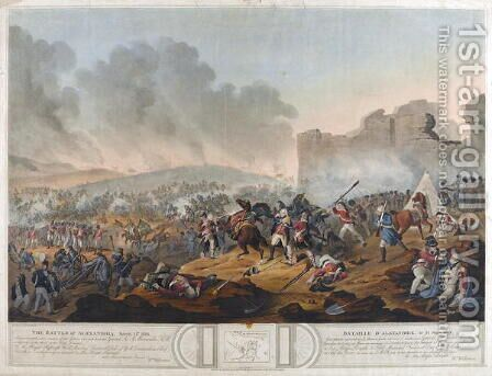 Battle of Alexandria, 21st March 1801, engraved by J. Mitan and Charles Turner, published by E. Orme, London, 1804 by (after) Willermin, Lt. William - Reproduction Oil Painting