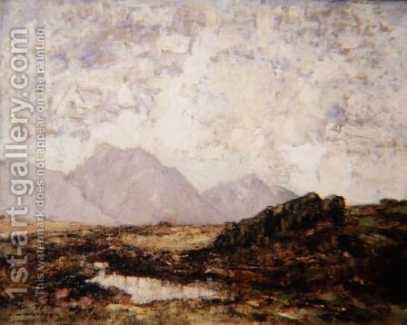 In the Perthshire Highlands by Alfred Gibson William - Reproduction Oil Painting