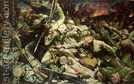 The Welsh at Mametz Wood by Christopher Williams - Reproduction Oil Painting