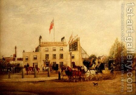 Kennington Oval: The Tavern and the Entrance, c.1858 by Harry Williams - Reproduction Oil Painting