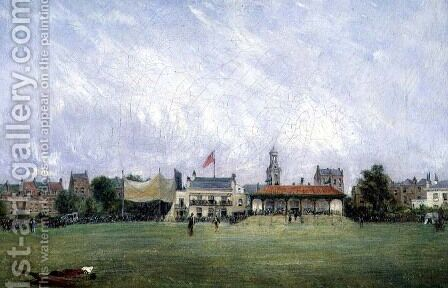 Kennington Oval: The Ground and the Pavilion, c.1858 by Harry Williams - Reproduction Oil Painting