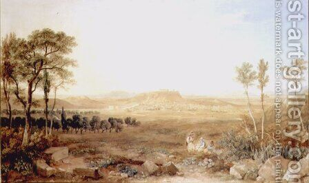 View of Athens by Hugh William Williams - Reproduction Oil Painting