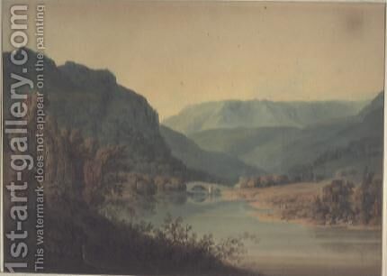 View of Braemar, North Highlands by Hugh William Williams - Reproduction Oil Painting