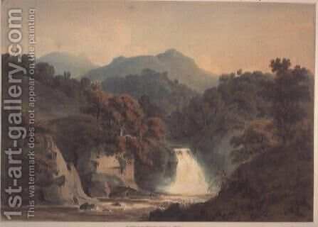 View of the Bran, near Dunkeld by Hugh William Williams - Reproduction Oil Painting