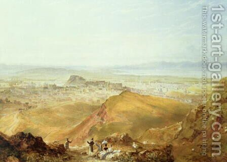 View of Edinburgh from Arthurs Seat by Hugh William Williams - Reproduction Oil Painting
