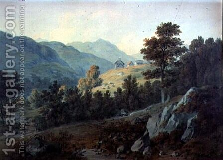 The Farm of Alane, Colywrockan, near Killiecrankie by Hugh William Williams - Reproduction Oil Painting