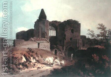 The Frater of Dunfermline Abbey, Fife, Scotland, 1805 by Hugh William Williams - Reproduction Oil Painting