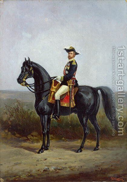 Equestrian Portrait of General George Ernest Boulanger (1837-91) by Daniel Alexander Williamson - Reproduction Oil Painting