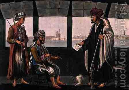 Arabs on Board the Swiftsure, engraved by Joseph Constantine Stadler (fl.1780-1812) published by I. White, London, 1801 by (after) Willyams, Cooper - Reproduction Oil Painting