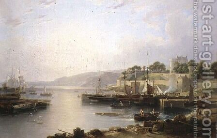 View of Burntisland by Andrew Wilson - Reproduction Oil Painting