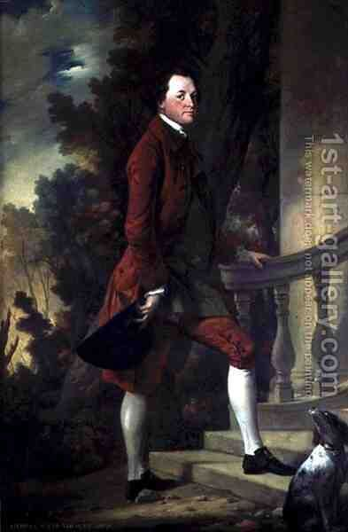 Portrait of Charles, 9th Viscount Irwin by Benjamin Wilson - Reproduction Oil Painting