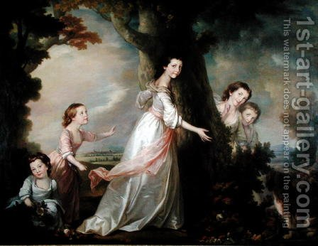 The Five Sisters by Benjamin Wilson - Reproduction Oil Painting