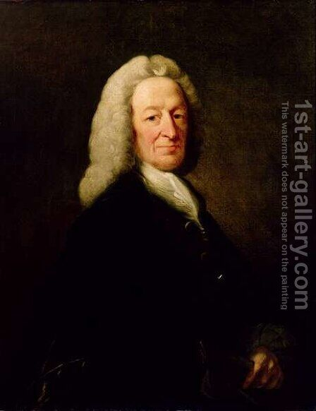 Portrait of Judge Richard Wilson by Benjamin Wilson - Reproduction Oil Painting