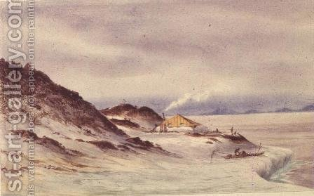Hut Point, McMurdo Sound, 7th April 1911 by Edward Adrian Wilson - Reproduction Oil Painting