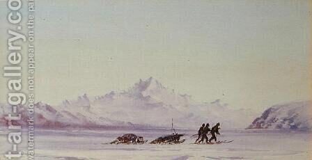 Arctic Scene by Edward Adrian Wilson - Reproduction Oil Painting