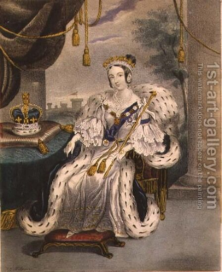 Her Majesty the Queen by J.C. Wilson - Reproduction Oil Painting