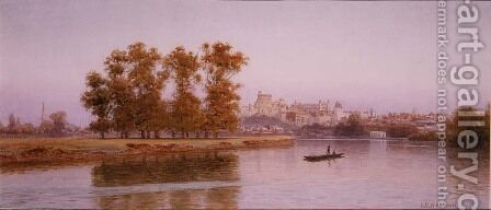 View of Windsor, 1894 by Henry B. Wimbush - Reproduction Oil Painting