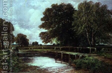 The Ford by Edmund Morison Wimperis - Reproduction Oil Painting