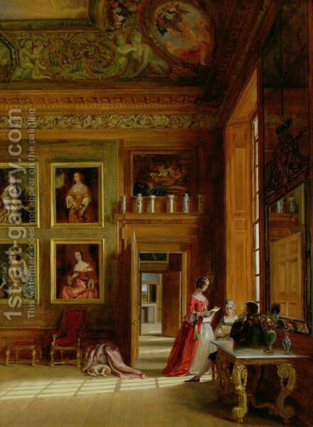 Hampton Court, 1849 by James Digman Wingfield - Reproduction Oil Painting