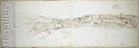 View of Urbino from the colle di San Donato by Caspar Andriaans Van Wittel - Reproduction Oil Painting