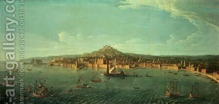 A View of Naples by Caspar Andriaans Van Wittel - Reproduction Oil Painting