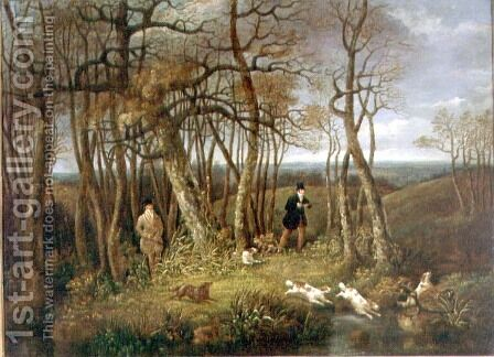 Woodcock Shooting by Dean Wolstenholme, Snr. - Reproduction Oil Painting