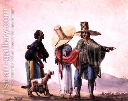 People from Pisco, 1820 by Carlos D. Wood - Reproduction Oil Painting