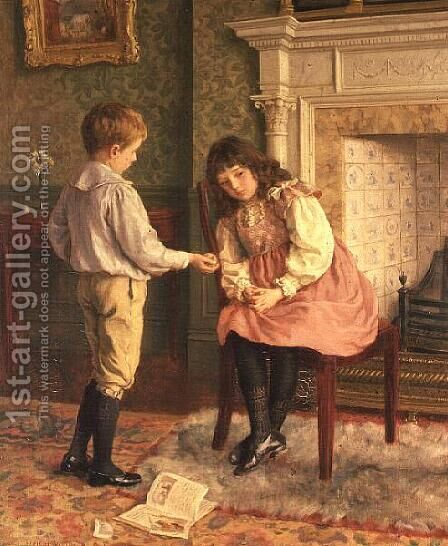 The Peace Offering by Charles Haigh-Wood - Reproduction Oil Painting
