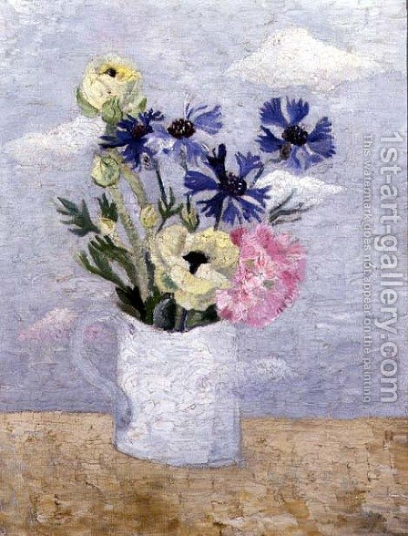 Flowers in a White Mug by Christopher Wood - Reproduction Oil Painting
