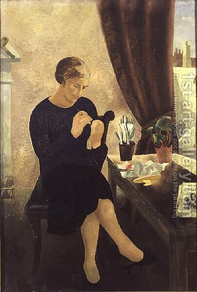 The Manicure, 1933 by Christopher Wood - Reproduction Oil Painting
