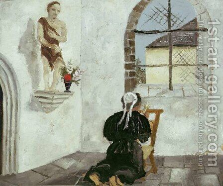 Breton Woman at Prayer by Christopher Wood - Reproduction Oil Painting