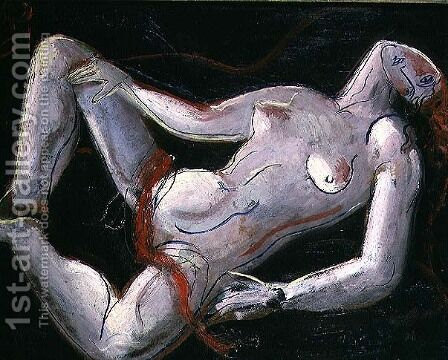 Reclining Nude by Christopher Wood - Reproduction Oil Painting